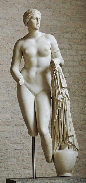 """Braschi Venus"""", from the Villa of the Quintilii (Glyptothek, Munich)."""