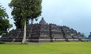 Borobudur view taken from northwest plateau