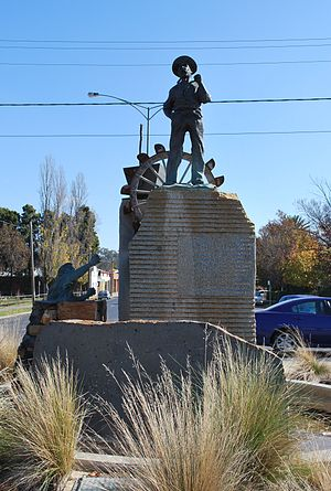 Statue of a miner at Castlemaine, Victoria