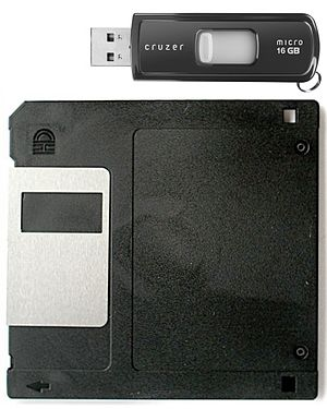 The Size of a 16 GB Flash Drive compared to a ...