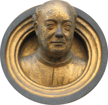 Bust of Lorenzo Ghiberti in the Gates of Paradise