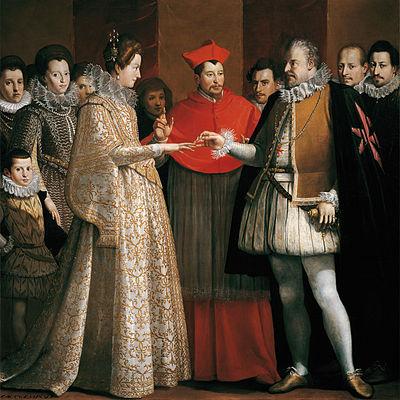 Nupcias de María de Médici con Enrique IV de Francia (1600, Jacopo Chimenti).