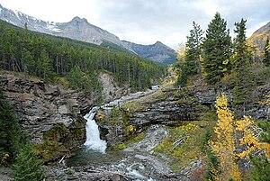 English: Blackiston Falls Upper, Waterton Nati...