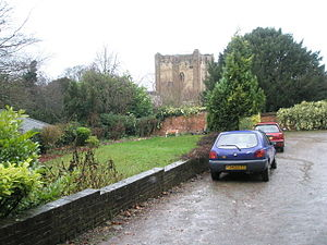 English: The Keep of Guildford Castle as seen ...