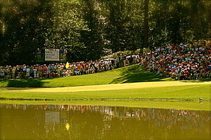 The 9th hole on the par-3 course at the August...