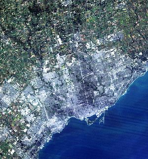 A simulated-colour image of Greater Toronto Ar...