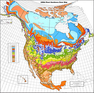 USDA Hardiness Zones in North America