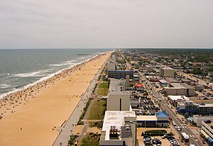 Southern stretch of Virginia Beach