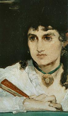 WIKIPEDIA : Portrait de Berthe Morisot dans Le Balcon d'Édouard Manet.