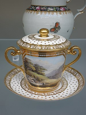 Staffordshire, 1815-20 Bone china, painted in ...