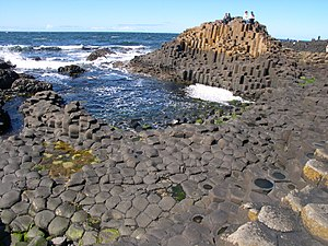 Giant's Causeway in Northern Ireland is an exa...