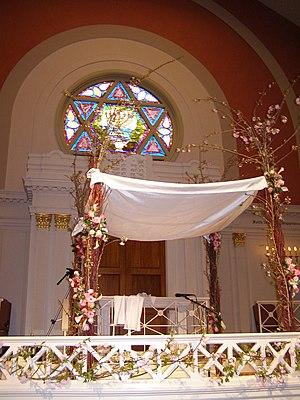 A chupah (the canopy under which a Jewish wedd...