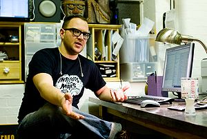 English: Cory Doctorow in his office