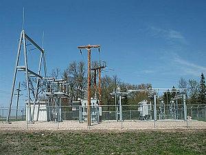 A 115 kV to 41.6/12.47 kV 5 MVA 60 Hz substati...