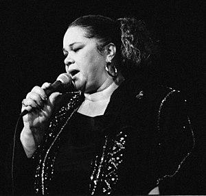 Français : La chanteuse américaine de blues Et...
