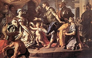 Dido Receiving Aeneas and Cupid Disguised as A...