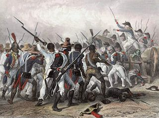 Scene of the Battle of Vertières during the Haitian Revolution