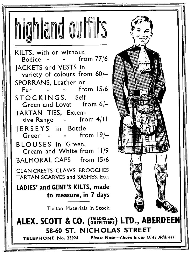 Vintage Advertisement for a Montrose Doublet