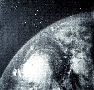 This image shows Hurricane Betsy in the Gulf o...