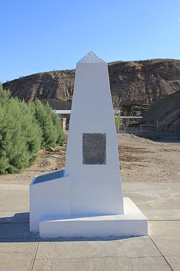 International Boundary Marker No. 1, U.S. and Mexico - View from north