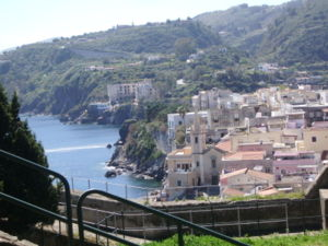 The city of Lipari, Sicily