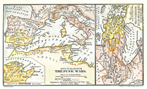 Two maps of the ancient world, public domain, ...