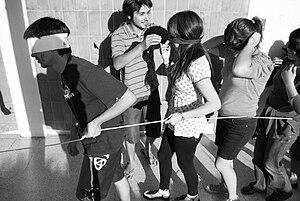 Español: Mechoneo en la carrera de Diseño de l...
