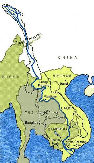 Mekong river location