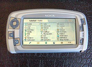 Nokia 7710 smartphone with Finnish-language in...