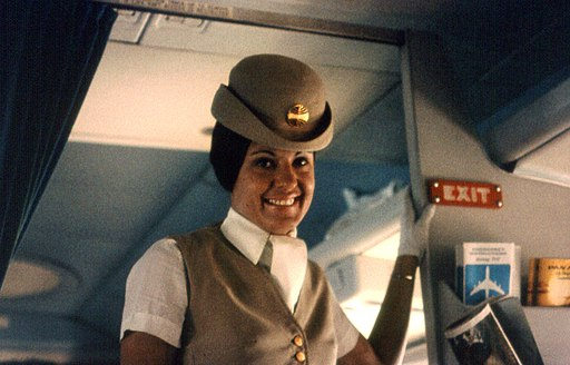 Pan Am 1970s flight attendant