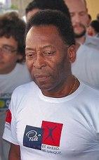 {{pt O ex-futebolista brasileiro Pelé.