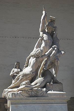 """The Rape of Polyxena"", sculpture by..."