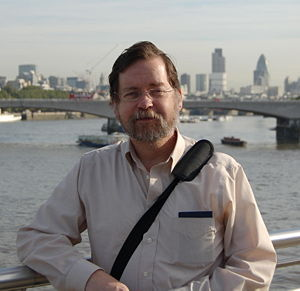 English: PZ Myers in London. Français : PZ Mye...