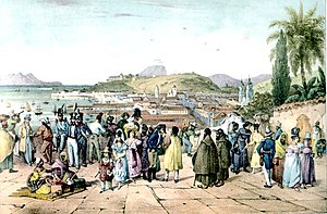 English: View of Rio de Janeiro from the churc...