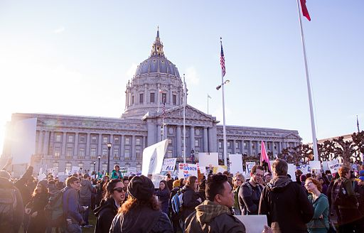 San Francisco City Hall at NoBanNoWallSF Rally - Feb 4, 2017 (31917946093)