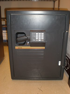 A Sentry Safe (model unknown), class 350-2R.