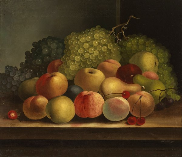 FileStill life fruit William Buelow Gould 1832 edit