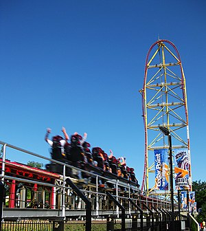 The Top Thrill Dragster roller coaster at Ceda...