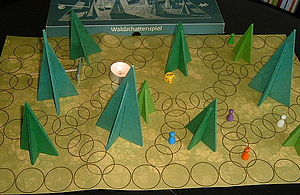 Waldschattenspiel, game for children of walter...