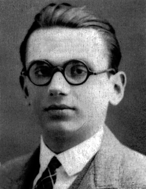 English: Portrait of Kurt Gödel, one of the mo...