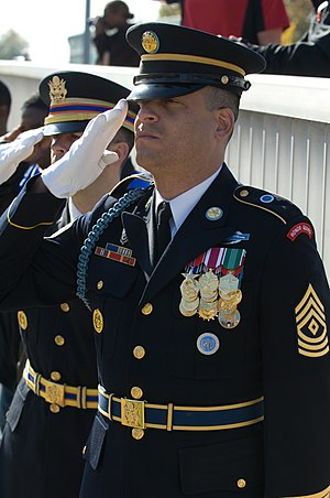 A U.S. Army infantry first sergeant