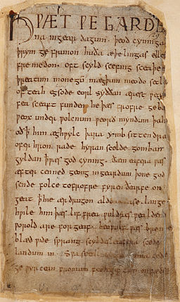 Beowulf Cotton MS Vitellius A XV f. 132r