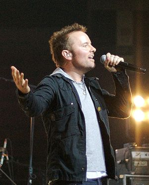 Chris Tomlin performing a concert in Johnson C...