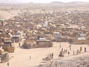 Darfur refugee camp in Chad