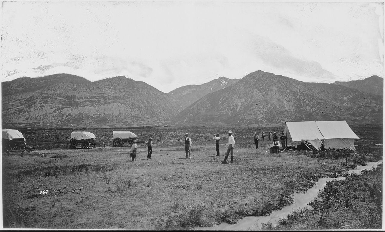 FileFirst camp of the Survey at Ogden Weber County Utah  NARA  516655jpg  Wikimedia Commons