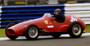 Froilan Gonzalez demonstrating a Ferrari 500 a...