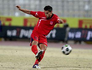 English: Scoring his first goal for Alki