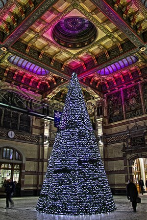 Christmas tree at Groningen Central Station