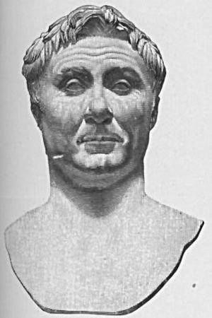Pompey the Great in middle age. Marble bust in...