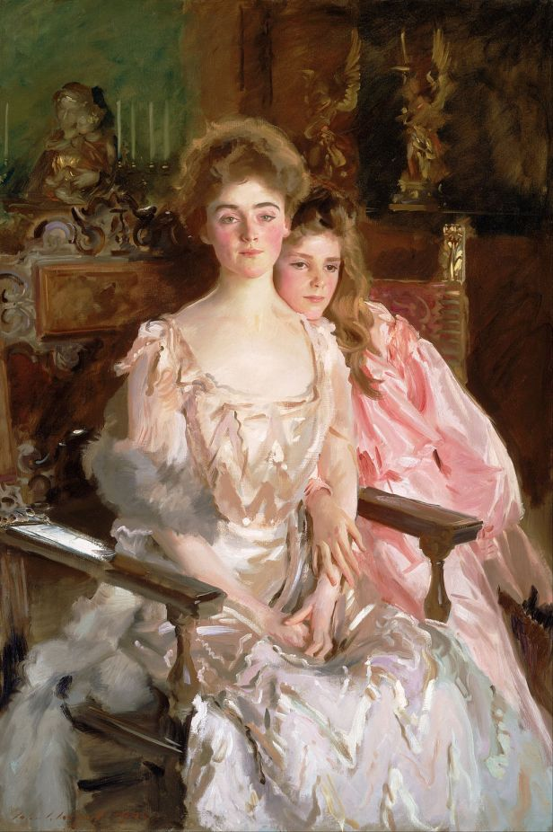 """Mrs Fiske Warren and Her Daughter Rachel"" by John Singer Sargent"